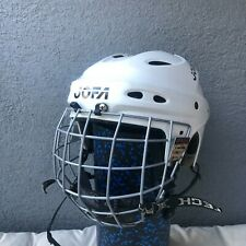 JOFA hockey helmet 690M senior white vintage GAME USED CONDITION Rare 53-58