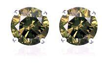 S.Michael Designs 1.12Cts. T.W. Champagne Diamond Stud Earrings - 10K WG