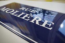 Plaque de rue emaillée personnalisée 25x45 cm -NEUF- 10 ans de garantie numéro