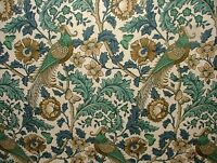 Oakmere Verdigris Cotton Curtain Upholstery Quilting Fabric William Morris Style