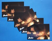 Pack of 6 NEW High Quality Glossy Postcard Trafalgar Square at Night, London