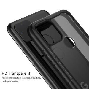 For Google Pixel 3 4 XL 4A 5G Shockproof Slim Hybrid HD Clear Hard Case Cover