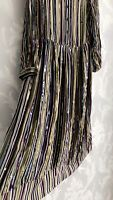 Zara Sequin Striped Midi Dress Size M