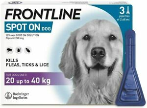 Frontline Spot On for Large Dogs Flea & Tick Treatment 3 Pipettes AVM-GSL