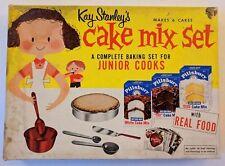 Vintage Kay Stanley's Cake Mix Set Junior Cooks Pillsbury Toy Baking No 74