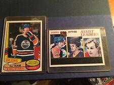 1979 - 1980 Wayne Gretzky Topps 2 card lot oilers