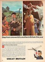 1967 Original Advertising' Vintage Bea Airways Airlines British Great Britain 2b