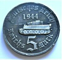 WW2 GERMAN COMMEMORATIVE COLLECTORS 5 MARK COIN '44 TANK SERIES