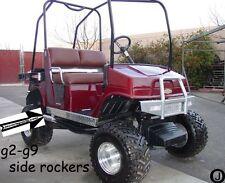 YAMAHA G2-G9 golf cart Diamond Plate Full Side Rockers And kick plate 3 pc kit