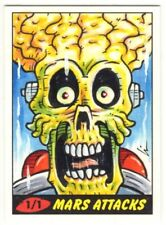 2012 TOPPS MARS ATTACKS HERITAGE 50th Anniversary Lin Workman 1/1 Sketch Card