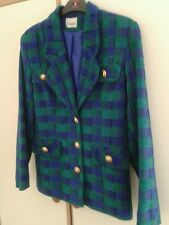 Fantastic original1980s  vintage check  wool blazer made in uk jacket size 10..