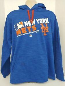 Men's New York Mets ThermaBase Malestic Hoodie Sweatshirt Large MLB Authentic