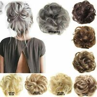 As Real Natual Human Hair Extension Messy Hair Bun Curly Ponytail Hairpiece AU
