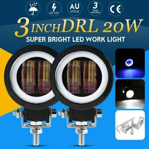 2X 3inch 40W Spot Round LED Work Lights Driving Pods Offroad Motorcycle Bike SUV