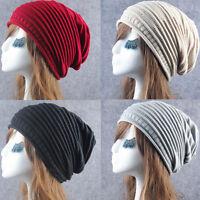 Women Men Knit Winter Warm Unisex Hip-Hop Beanie Hat Baggy Slouchy Ski Cap Hat