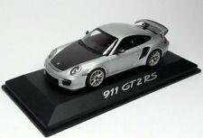 RARE PORSCHE 911 997 GT2 RS 2010 CARBON SILVER 1:43 MINICHAMPS (DEALER MODEL)