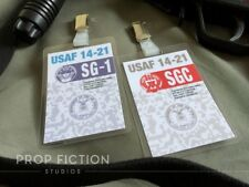 Stargate SG-1 - Pair of SGC Security Pass Clip-on Prop / Cosplay ID Cards