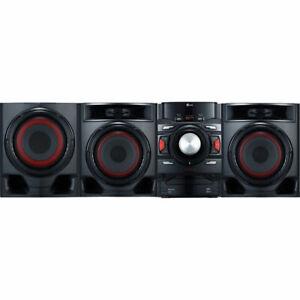 New LG CM4590 700W 2.1 Channel Mini Shelf Bluetooth Subwoofer Speaker System