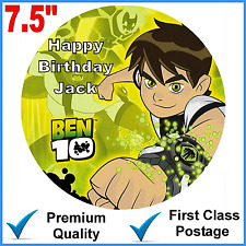 """BEN 10 Personalised Quality Edible Icing Cake Topper 7.5"""" Round Pre-cut"""