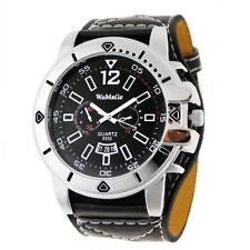 Reloj para hombre negro y plateado. Silver man watch Womage A1353