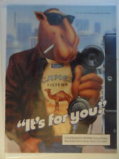 1990 Print Ad Camel Cigarettes ~ Joe Camel It's For You PAY PHONE Telephone Art