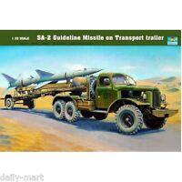 Trumpeter 1/35 00204 SA-2 Guideline Missile on Transport Trailer Model Kit