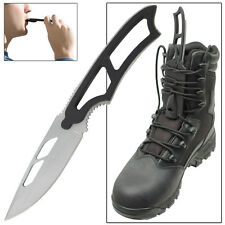 Dark Warrior Full Tang Emergency Whistle Military Boot Knife