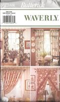 UNCUT Butterick Pattern Waverly Drapes 4758 SEWING OOP Vintage Window Treatments