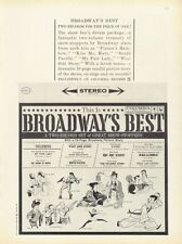 1961 Columbia Records Broadway's Best My Fair Lady-South Pacific-Gypsy Print Ad