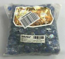 OnlyFire Fireglass Fire Drops 1/2 inch Royal Cobalt Blue 9 lbs 12 oz New Bj