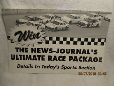 Vintage Daytona Beach FL News-Journal Newspaper Poster Daytona 500 Racing NASCAR