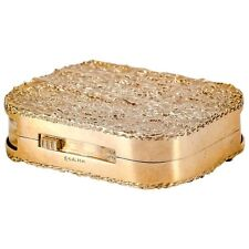 Ruser Yellow 14K Gold Double-Sided Pill Box