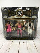 Hart Foundation WWE Jakks Classic Superstars 3 Pack Bret Jim Neidhart Jimmy T1