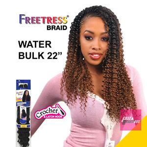 "WATER WAVE BULK 22"" - Freetress Premium Synthetic Hair Braid Crochet"
