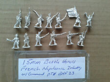 15mm Battle Honors French Napoleonic Infantry w/ Command