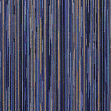 E226 Navy Blue Gold Abstract Stripe Contract Upholstery Fabric By The Yard