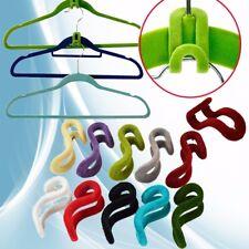 100Pcs Home Creative Flocking Clothes Hanger Hook Closet Organizer Wardrobe Tool