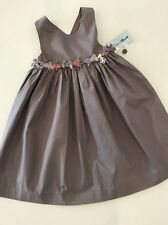 NWT New 4A 4 Yr Tartine Et Chocolat Bow Dress Sundress Petit Paradis Praline