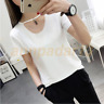 2017 Women Short Sleeve Hollow Round Neck T-Shirt Casual Loose Tops Blouse NewW