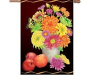 Fall Floral Decorative House Flag
