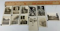 Original Lot of 10 WWII Photos Army Soldiers USO Building Uniform Statue USAAF 3