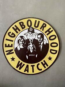 Original Banksy Neighbourhood Watch XL Sticker, Fasson Back, POW, Banksy Print