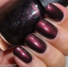 OPI San Francisco MUIR MUIR ON THE WALL Deep Plum Brown Nail Polish Lacquer F61