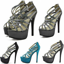 Party Peep Toes Standard Width (B) Slim Heels for Women