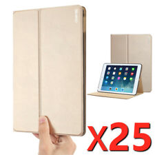 Poetic iPad Air 2 Case DuraBook Polyurethane Leather Cover Gold [ 25 pieces/lot]