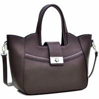New Womens Handbag Fold-Over Winged Leather Satchels Tote Bag Shoulder Bag Purse