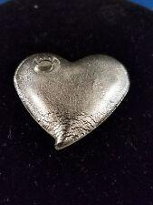 Heart Pendant White Opaque Swirl Acrylic 2
