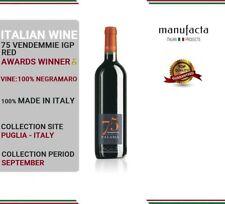 6 bottles Italian Red Wine  Vino Rosso pregiato  75 Vendemmie IGP PLURIPREMIATO