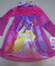 NWT DISNEY Princesses Belle Cinderella 2 pc NIGHTGOWN & SLIPPERS TODDLER GIRL 2T