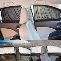 Adjustable 2pc 70cm Car SUV Window Anti-UV Sun Shade Drape Visor Curtain Valance